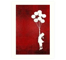 The Balloons Girls Art Print