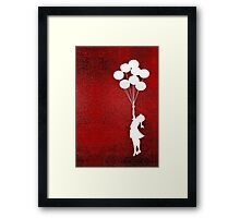 The Balloons Girls Framed Print