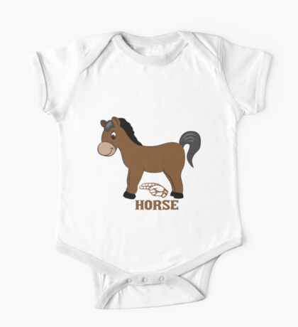H is for Horse - ASL One Piece - Short Sleeve