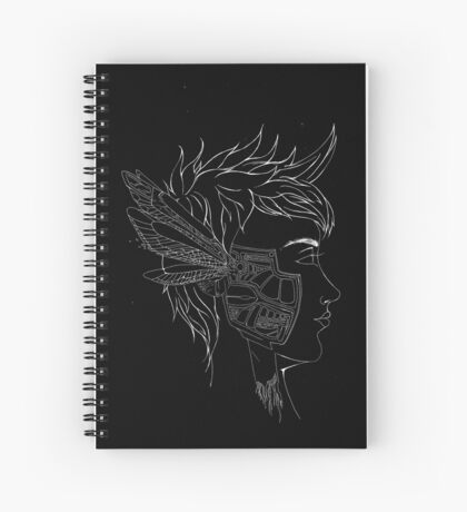 Mechanical Dragonfly Guy Spiral Notebook