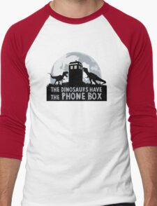 the dinosaurs have the phone box Men's Baseball ¾ T-Shirt