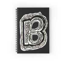 Black and White Letter B Spiral Notebook