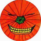 GIGGLES THE HAPPY  HALLOWEEN PUMPKIN by JoAnnHayden