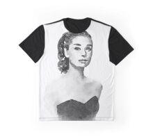 Audrey Hepburn watercolor portrait Graphic T-Shirt