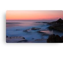 Distant Sunset in Caesarea Canvas Print