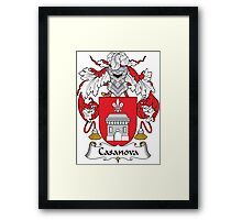 Casanova Coat of Arms (Spanish) Framed Print