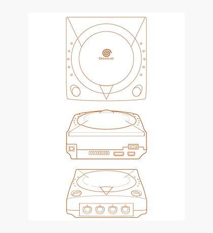 Dreamcast - Blueprint Design Photographic Print