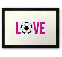 Love Soccer (pink) Framed Print