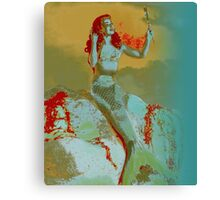 Mermaid and Mirror Canvas Print