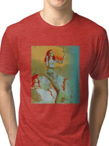 Mermaid and Mirror Tri-blend T-Shirt