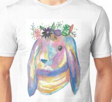 PupsiRabbitFlowers Unisex T-Shirt