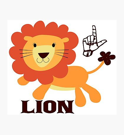 L is for Lion - ASL Photographic Print
