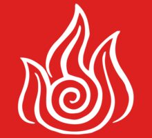 Firebending Symbol (white) Kids Tee