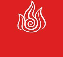 Firebending Symbol (white) Unisex T-Shirt