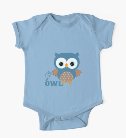 O is for Owl - ASL One Piece - Short Sleeve
