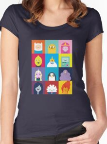Adventure Characters Women's Fitted Scoop T-Shirt