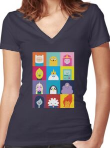 Adventure Characters Women's Fitted V-Neck T-Shirt