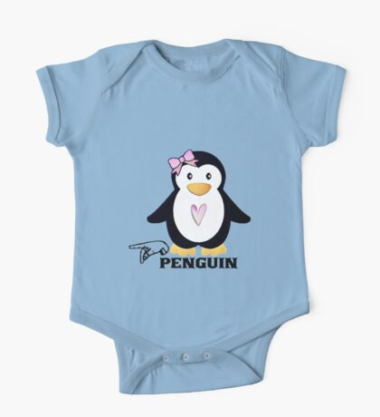P is for Penguin -  ASL One Piece - Short Sleeve