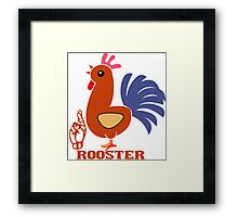 R is for Rooster Framed Print