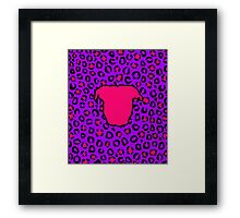 Pit Bull Head Leopard Background Framed Print