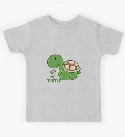 T is for Turtle - ASL Kids Tee