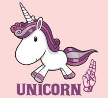 U is for Unicorn -  ASL One Piece - Long Sleeve