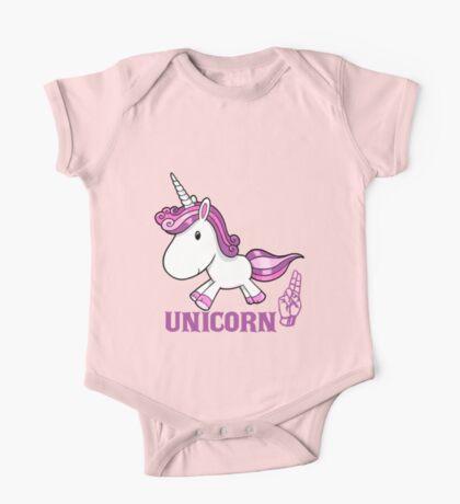 U is for Unicorn -  ASL One Piece - Short Sleeve