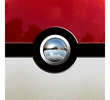 Red Pokeball Photographic Print