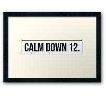 [SCRUBS] Calm Down, 12 Framed Print
