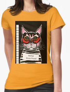 Cat Mug Shot Womens Fitted T-Shirt