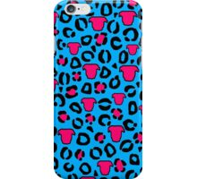 Leopard Pit Bull Print Blue iPhone Case/Skin