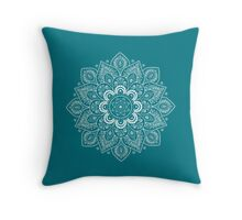 Temptation Mandala in Biscay Bay Color Throw Pillow