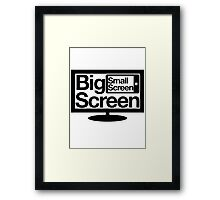 Big Screen Small Screen Framed Print