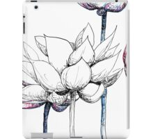 Lotus Red, White and Blue iPad Case/Skin