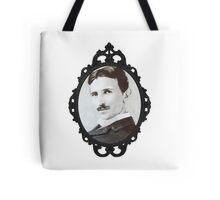 NikolaTesla Framed Tote Bag