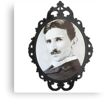 NikolaTesla Framed Metal Print