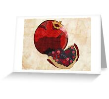 Slice of Pomegranate Greeting Card