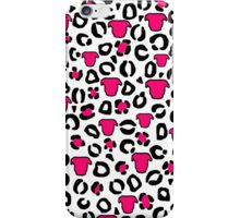 Leopard Pit Bull Print White iPhone Case/Skin