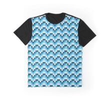 8-bit waterfall Graphic T-Shirt