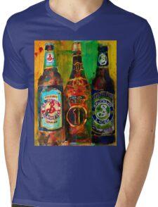 Brooklyn Beer Lager, Summer - Men Cave Mens V-Neck T-Shirt