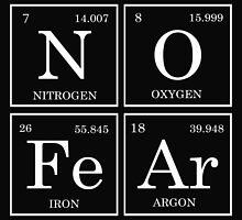 No Fear Periodic Table (black/white) by raineOn