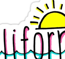 California Beach Writing Sticker