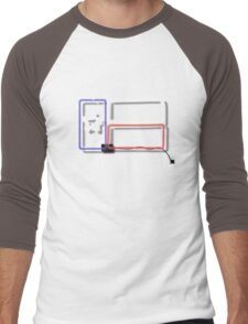 Neon Texas Sign Men's Baseball ¾ T-Shirt