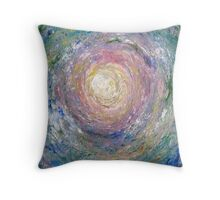 Swirling Coral Waves Throw Pillow