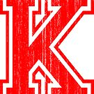 Big Red Letter K by adamcampen