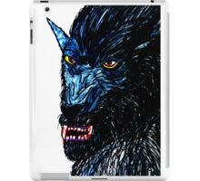 BLACK THE WEREWOLF  iPad Case/Skin
