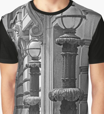Ornate Lamp Posts in San Francisco Graphic T-Shirt