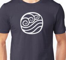 Waterbending Symbol (white) Unisex T-Shirt