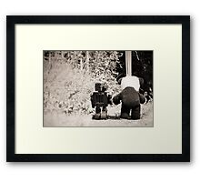 'If we go down to the woods today' Framed Print