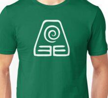 Earthbending Symbol (white) Unisex T-Shirt